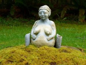 Pregnant Woman Statue